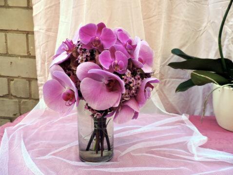 Brautstrauß rosa Orchideen