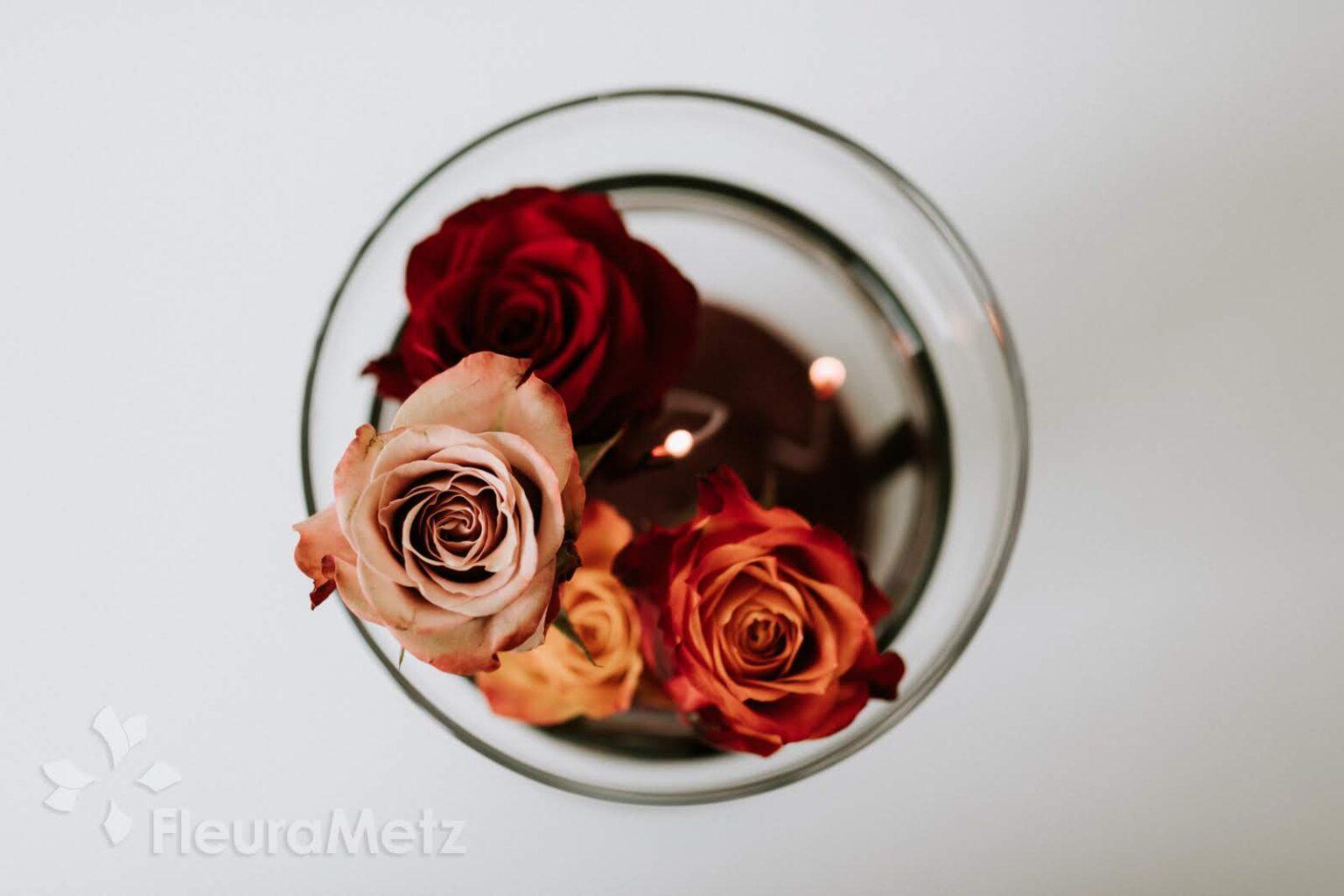 Rosenstrauß zusammenstellen