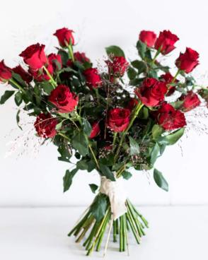 Blumenstrauß mit 10 Rosen