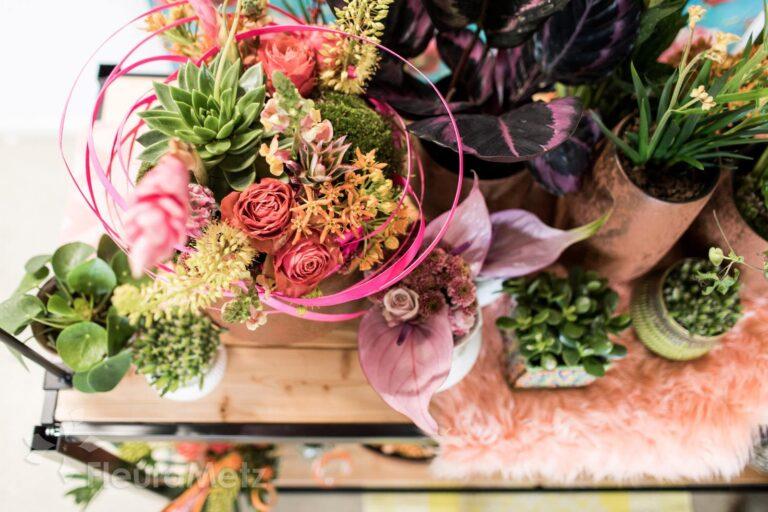 saisonale Blumendekoration