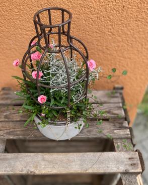 Stimmungsvolles, herbstliches Blumenarrangement